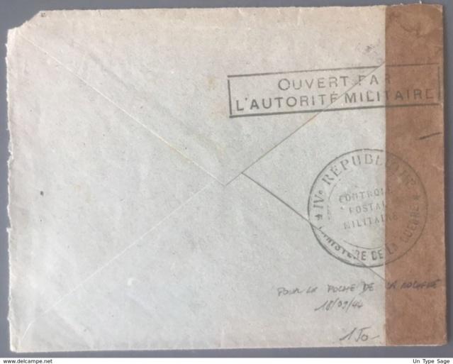 Censure postale de la IVe République en 1944 305_0016