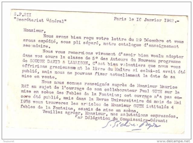 Edition Nathan : « Direction assurée par un Commissaire-Gérant aryen nommé par application de l'ordonnance allemande du 18 octobre 1940  »   517_0012