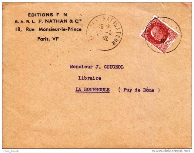 Edition Nathan : « Direction assurée par un Commissaire-Gérant aryen nommé par application de l'ordonnance allemande du 18 octobre 1940  »   837_0012