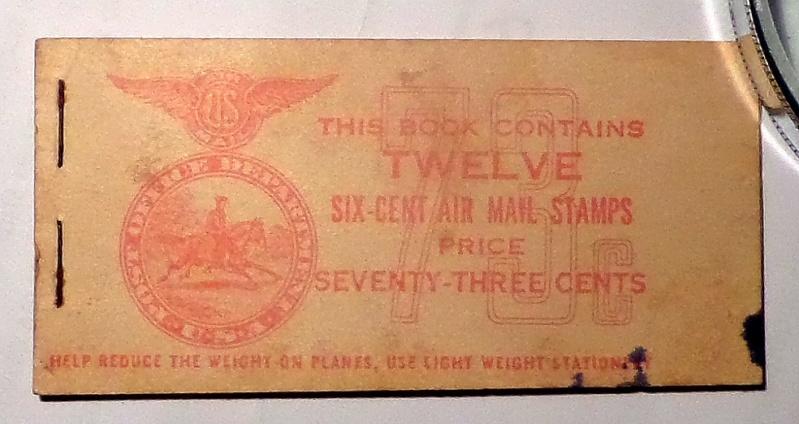 Carnet de 12 timbres de poste aérienne à 6 cents (USA) Carnet10