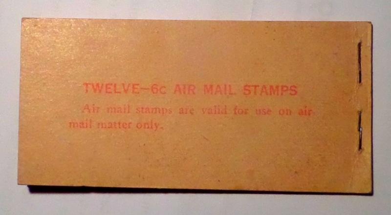 Carnet de 12 timbres de poste aérienne à 6 cents (USA) Carnet13