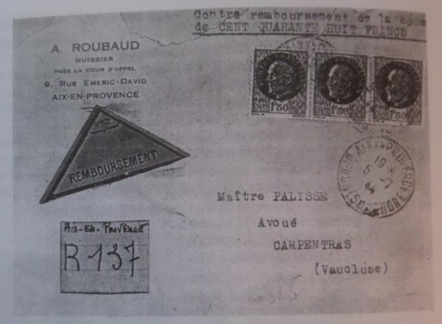 Bande de fermeture  sur papier de cahier d'écolier avec inscription à la plume «  OUVERT PAR LE CONTROLE MILITAIRE  »  en janvier 1940. Fm_30111