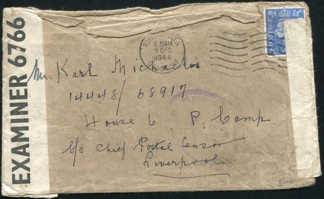 Lettre adressée au Chef de la censure de Liverpool en 1944. Ile_of11