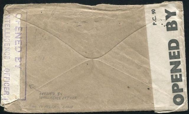 Lettre adressée au Chef de la censure de Liverpool en 1944. Ile_of12