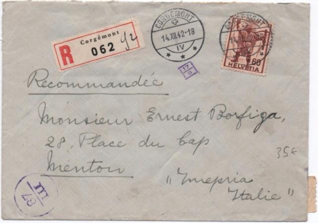 La censure italienne d'occupation en France avant l'invasion de la zone libre : MENTON ou MILAN Menton11
