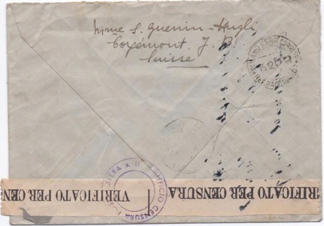 La censure italienne d'occupation en France avant l'invasion de la zone libre : MENTON ou MILAN Menton12