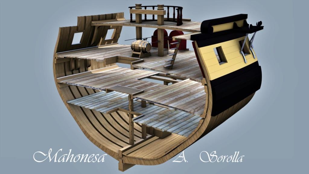 Mahonesa frégate- 34 canons1789 à 1:32 par A. Sorolla plans de Fermin Urtizberea - Page 4 Seccio10