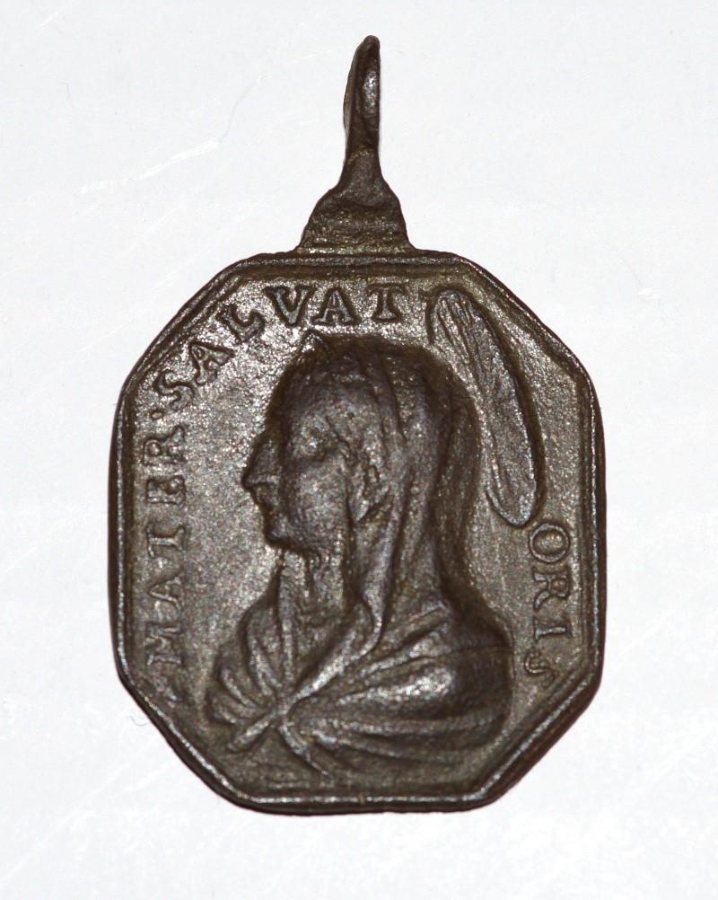 Jolie médaille St-Philippe-de-Néri / Notre-mère-salvatrice - datation après 1622 Med210