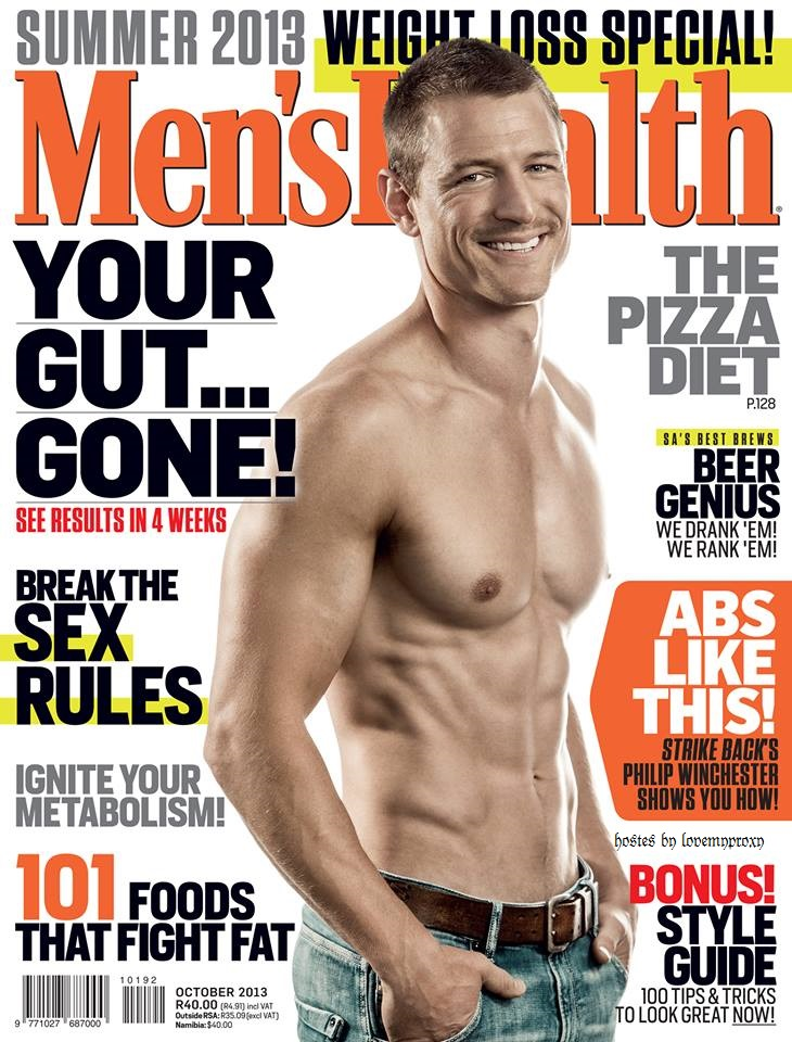 Philip is in the newest Men's Health South Africa Mens_h10