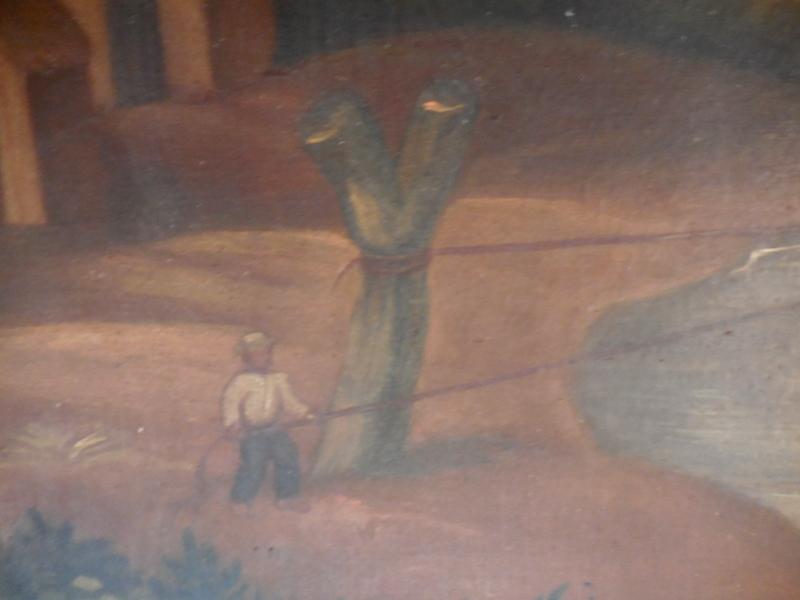 huile sur toile marouflé sur carton  Equateur  Dscn1322
