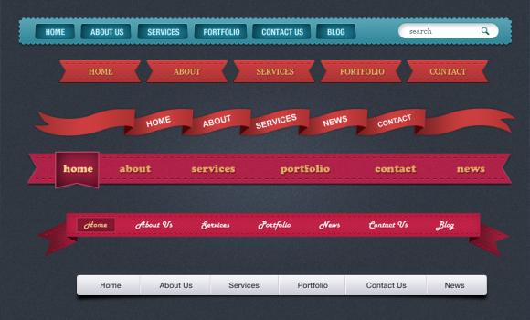 شرائط ويب او ( navbar ) بأشكال جديده ومبتكره  - صفحة 3 Timthu10