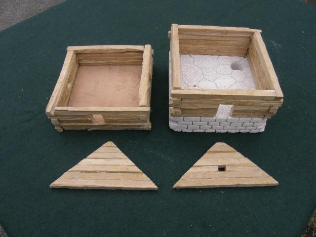 Camp romain/Haut moyen-âge modulable en brochettes de bambou ! P9140018