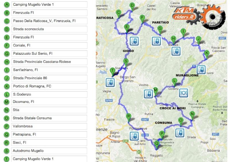 Raduno KTM riders 22-23-24 Marzo Percor10