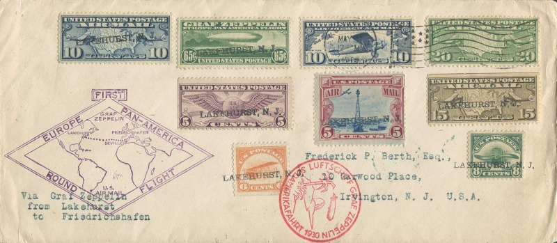 """Südamerikafahrt 1930 (Rundfahrt-) Post nach Friedrichshafen"""" - Seite 4 325810"""