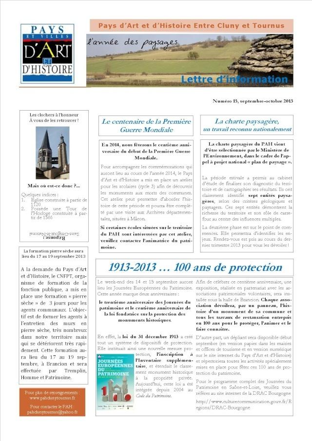 Lettres d'information  pah N°15       Lettre10