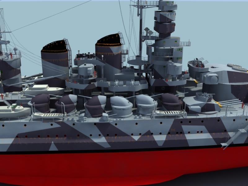 Regia Marina Italian Heavy Cruiser 'Pola' Roma3310