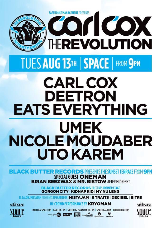 2013.08.13. - UTO KAREM - LIVE @ CARL COX THE REVOLUTION PARTY, SPACE (IBIZA, SPAIN) Utokar10