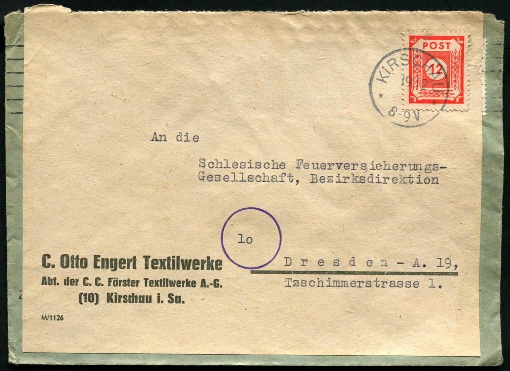 Ostsachsen (OPD Dresden) -Sowjetische Besatzungszone- - Seite 18 Beleg_19