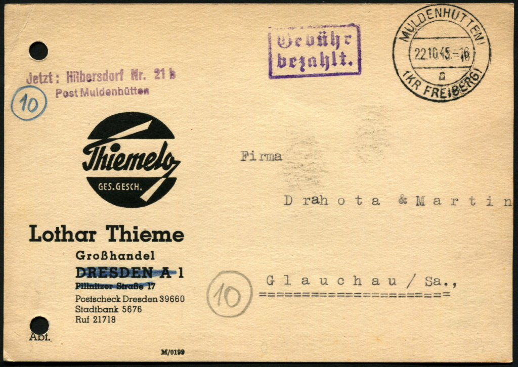 Ostsachsen (OPD Dresden) -Sowjetische Besatzungszone- - Seite 15 Postst15