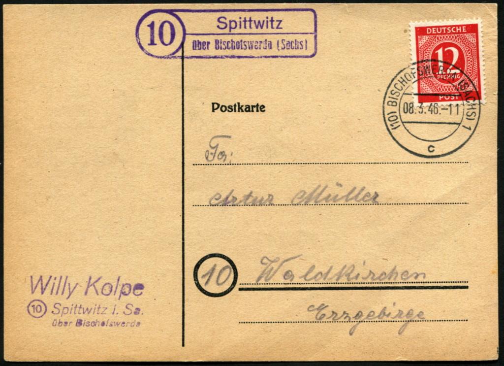 Zone - Ostsachsen (OPD Dresden) -Sowjetische Besatzungszone- - Seite 16 Postst18