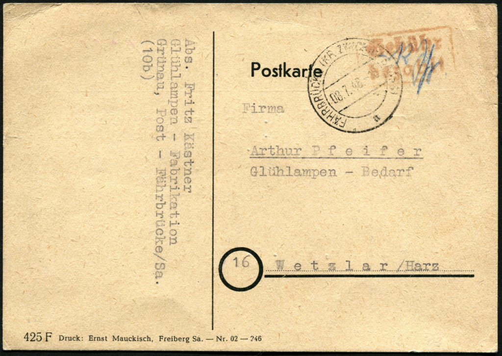 Ostsachsen (OPD Dresden) -Sowjetische Besatzungszone- - Seite 17 Postst33