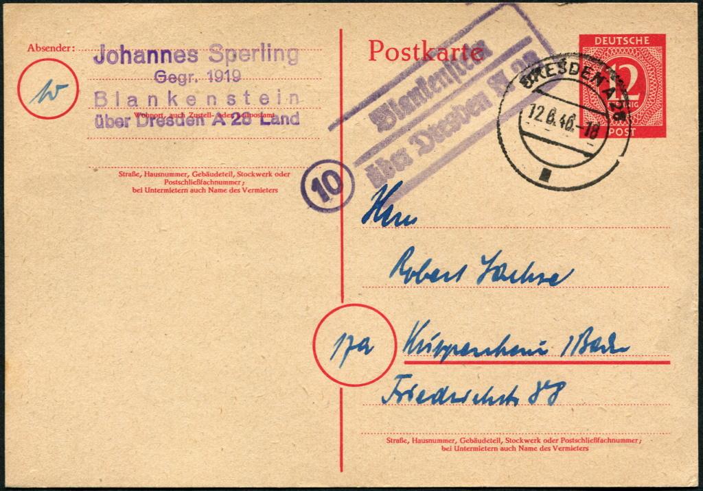 Ostsachsen (OPD Dresden) -Sowjetische Besatzungszone- - Seite 17 Postst34