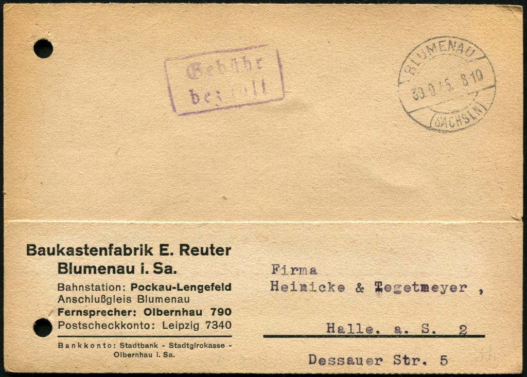 Ostsachsen (OPD Dresden) -Sowjetische Besatzungszone- - Seite 20 Postst74