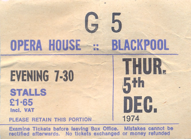 Photos de Fenderbass - Opera House - Blackpool (UK) - 5 décembre 1974 Blackp10