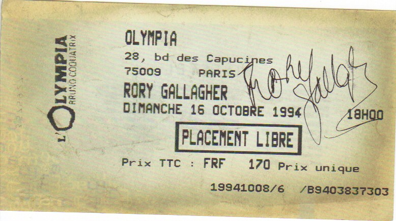 Photo de Patrick Guillemin - Olympia - Paris (France) - 16 octobre 1994 Rory_t10