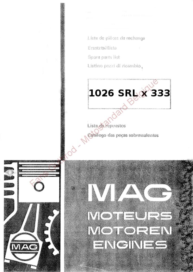Livret pièces de rechange moteur MAG 1026-SRL 1026_110
