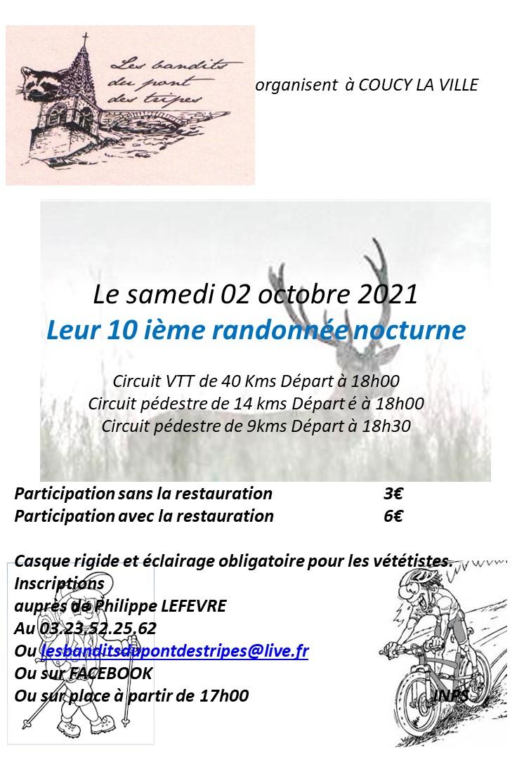 10 ieme nocturne des bandits du pont des tripes à Coucy La V Affich13