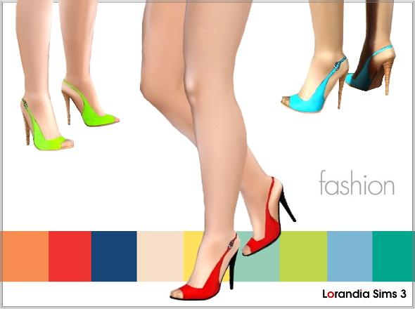Colored peep toe pumps by Lore at Lorandia Lorand10
