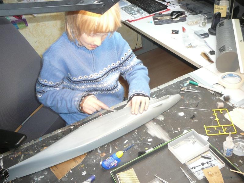 Eliminator´s Geschenk wird gebaut...1:350er RC Bismarck P1120925
