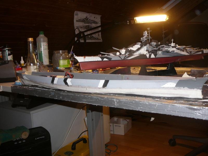 Eliminator´s Geschenk wird gebaut...1:350er RC Bismarck P1130011