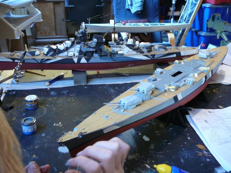 Eliminator´s Geschenk wird gebaut...1:350er RC Bismarck P1130024