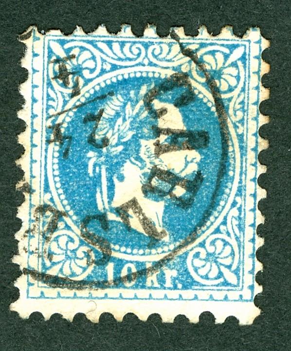 ungarn - Freimarken-Ausgabe 1867 : Kopfbildnis Kaiser Franz Joseph I 10_kr_10