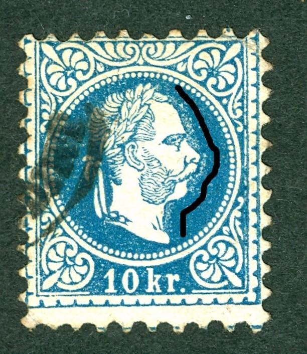 Nachtrag - Freimarken-Ausgabe 1867 : Kopfbildnis Kaiser Franz Joseph I 10_kr_11