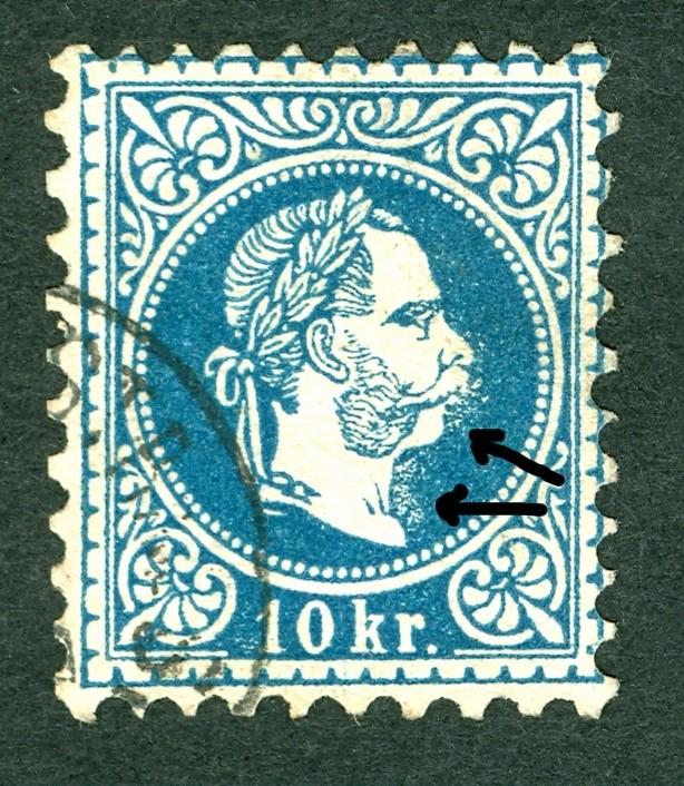 Nachtrag - Freimarken-Ausgabe 1867 : Kopfbildnis Kaiser Franz Joseph I 10_kr_12