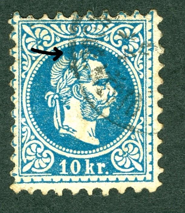 Nachtrag - Freimarken-Ausgabe 1867 : Kopfbildnis Kaiser Franz Joseph I 10_kr_13