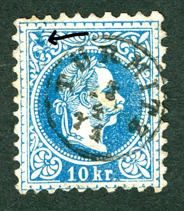 Nachtrag - Freimarken-Ausgabe 1867 : Kopfbildnis Kaiser Franz Joseph I 10_kr_14