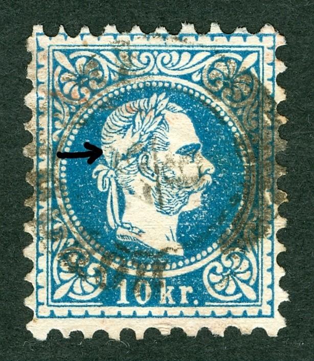 Nachtrag - Freimarken-Ausgabe 1867 : Kopfbildnis Kaiser Franz Joseph I 10_kr_16