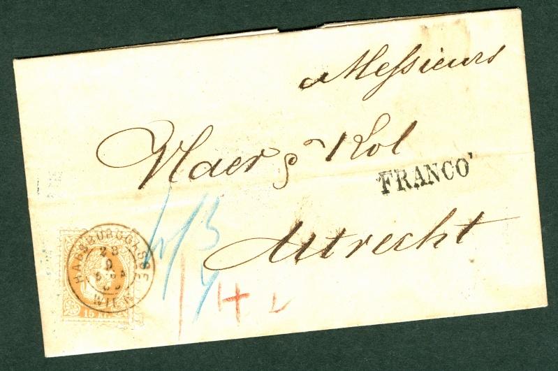 Nachtrag - Freimarken-Ausgabe 1867 : Kopfbildnis Kaiser Franz Joseph I 15_kr_10