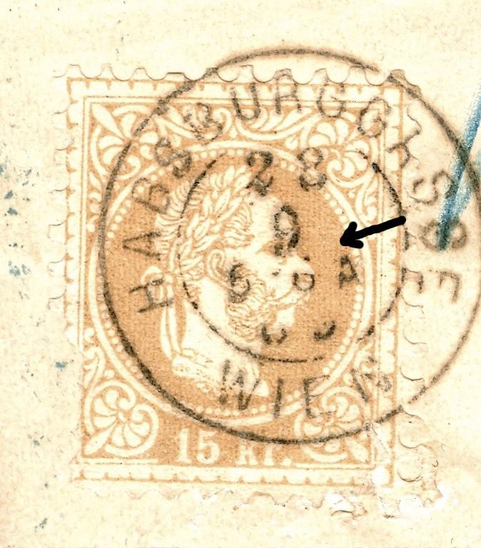 Nachtrag - Freimarken-Ausgabe 1867 : Kopfbildnis Kaiser Franz Joseph I 15_kr_11