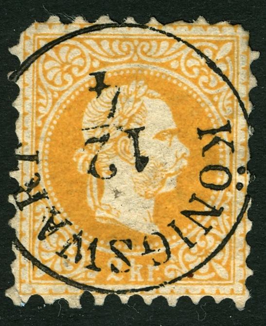 ungarn - Freimarken-Ausgabe 1867 : Kopfbildnis Kaiser Franz Joseph I 2_kr_d10