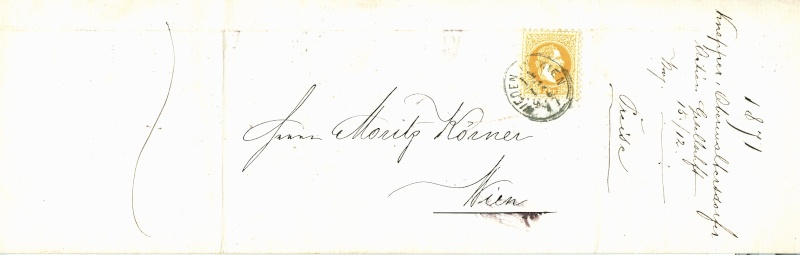 Nachtrag - Freimarken-Ausgabe 1867 : Kopfbildnis Kaiser Franz Joseph I 2_kr_d11