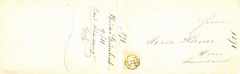 Nachtrag - Freimarken-Ausgabe 1867 : Kopfbildnis Kaiser Franz Joseph I 2_kr_d12