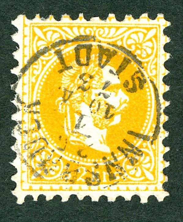 ungarn - Freimarken-Ausgabe 1867 : Kopfbildnis Kaiser Franz Joseph I 2_kr_f10