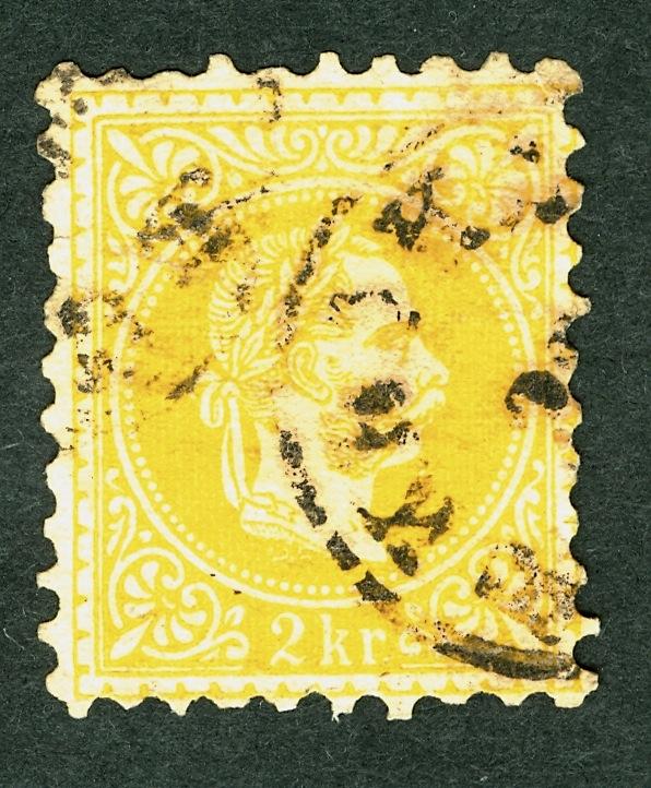 Nachtrag - Freimarken-Ausgabe 1867 : Kopfbildnis Kaiser Franz Joseph I 2_kr_f11