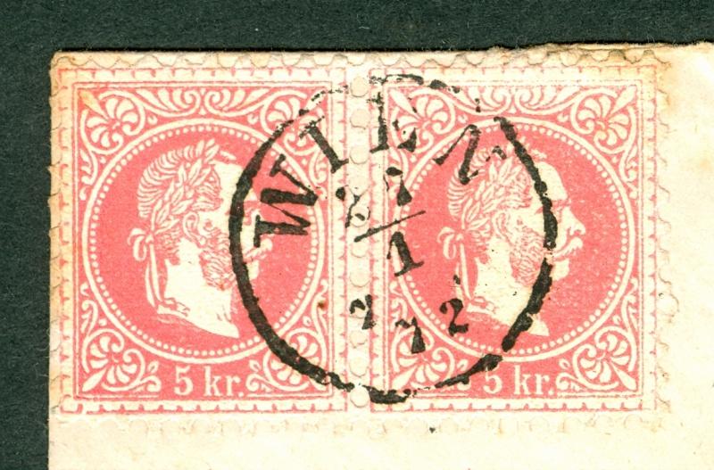 Freimarken-Ausgabe 1867 : Kopfbildnis Kaiser Franz Joseph I - Seite 2 5_kr_t19