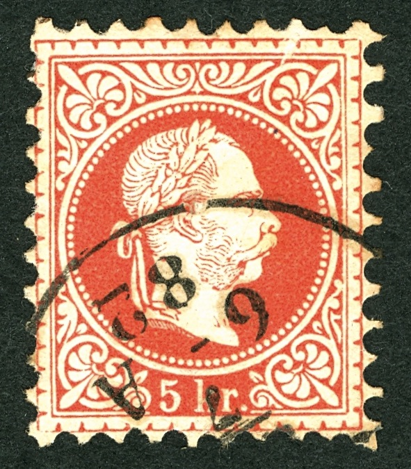 ungarn - Freimarken-Ausgabe 1867 : Kopfbildnis Kaiser Franz Joseph I A37_na10